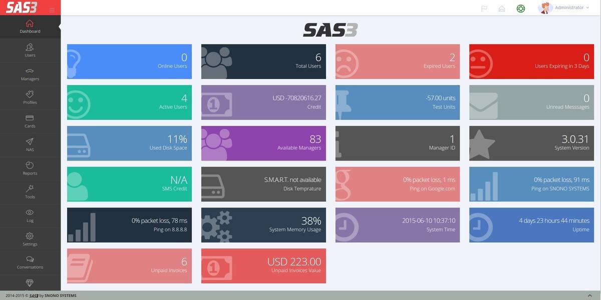 SAS3 RADIUS